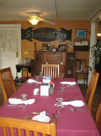 The Inn at Starlight Lake : Part of the Dining Room