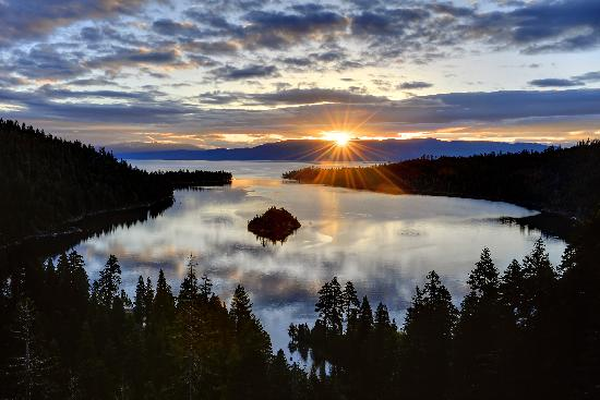 Zephyr Cove, NV: Sunrise from Emerald Bay