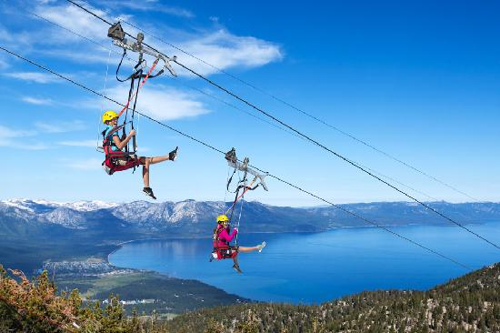 South Lake Tahoe, CA: Zip Line at Heavenly Mountain Resort