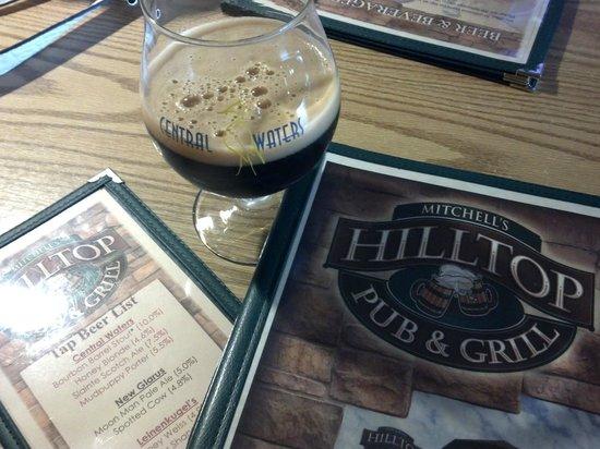 Hilltop Pub and Grill: Bourbon Barrel Stout - Central Waters - Hilltop Pub & Grill Stevens Point WI