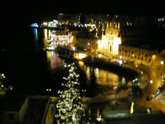 Le Meridien St. Julians: view at night from room le Meridean Hotel Malta