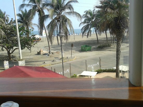 Hotel Almirante Cartagena Colombia : Vista desde el desayunador
