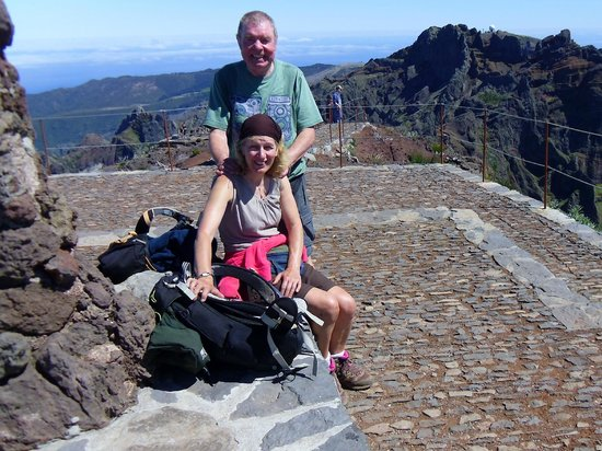 Pico Ruivo: Me and June on top of Madeira