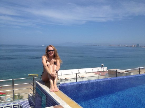 Hotel Suites Nadia : view from rooftop pool