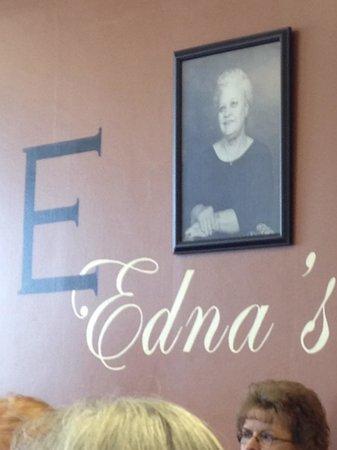 Edna's Restaurant: Logo wall