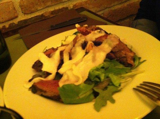 Osteria Da Cice : Tagliata di manzo ai sapori vari e lardo di Colonnata