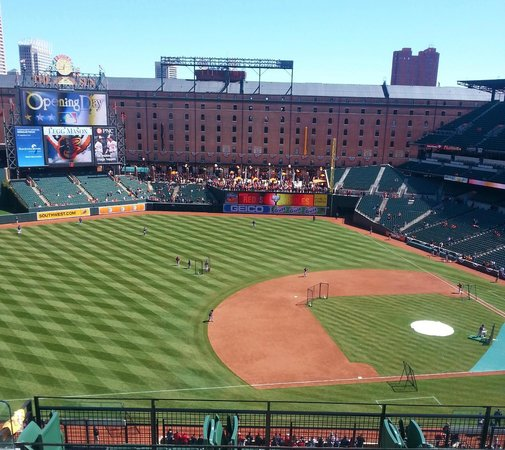 Oriole Park at Camden Yards: Warehouse makes a great backdrop
