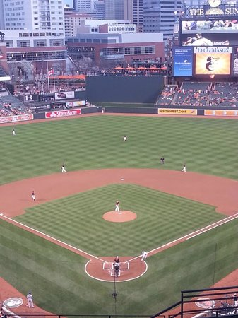 Oriole Park at Camden Yards: Great view from behind the plate
