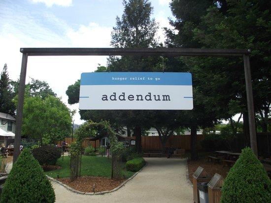 Addendum at Ad Hoc: Entrance to Addendum