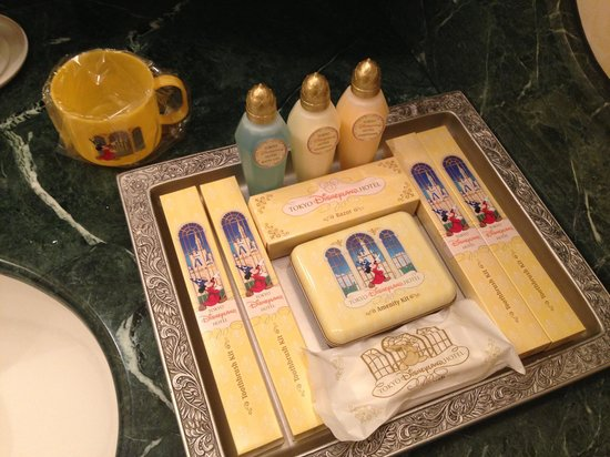 Tokyo Disneyland Hotel: They give you so many complimentary things, including Mickey slippers