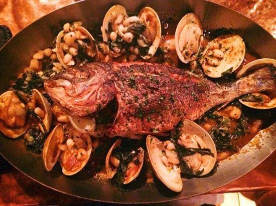 Street and Co.: Whole Fish with clams and cannellini beans