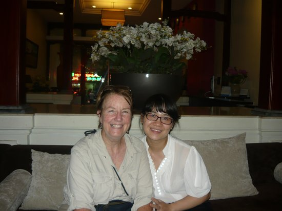 La Dolce Vita Hotel: me with the ever helpful Lucy