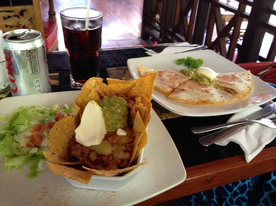 Flashback's: Mexican outside at the Porch Cafe. Nachos are really good!