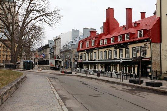 Restaurant Parmesan : Start of the restaurant strip, Quebec City