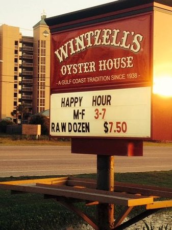Wintzell's Oyster House: happy hour until 7!