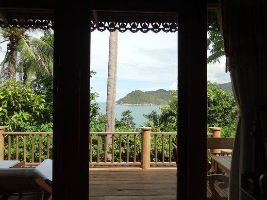 Santhiya Koh Phangan Resort & Spa: View from bed - #507