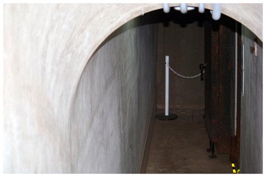 Sanrizuka Goryo Croft Museum: 防空壕の出入り口(当時の呼び方は御文庫)