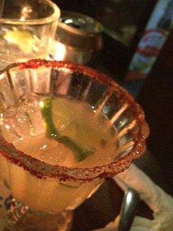 Cactus: Spicy rimmed Margarita