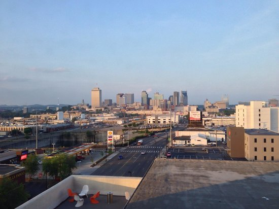 Aloft Nashville West End : View of downtown Nashville from the hotel