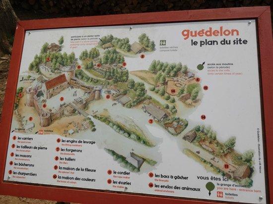 Chantier Médiéval de Guédelon: the plan