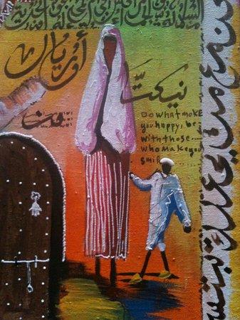 Hostel Riad Marrakech Rouge: La toile