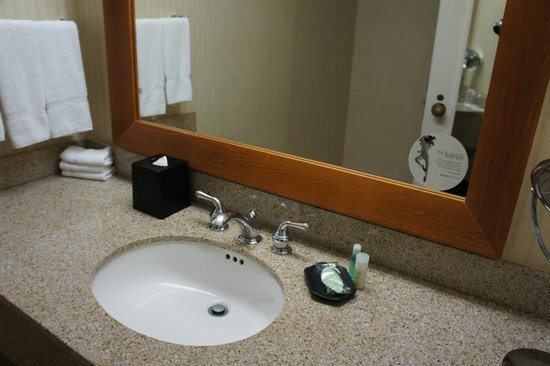 Westin Oaks Houston at the Galleria: Dated bathroom vanity