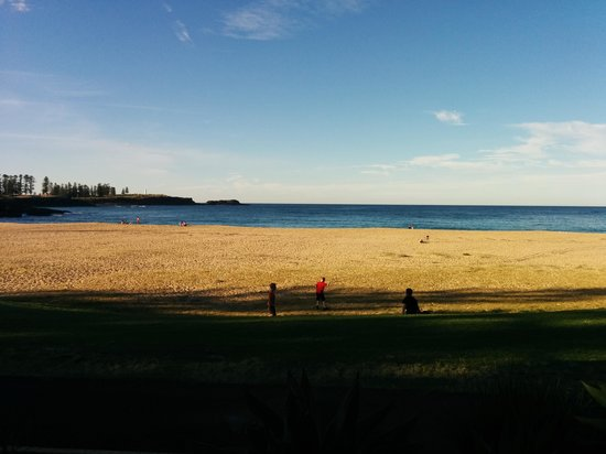 Kendalls on the Beach Holiday Park: The view from your absolute beach front cabin porch