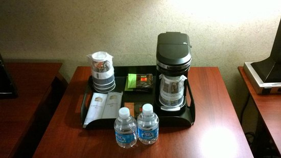 Best Western Plus Robert Treat Hotel: This coffee was better than downstairs at breakfast...