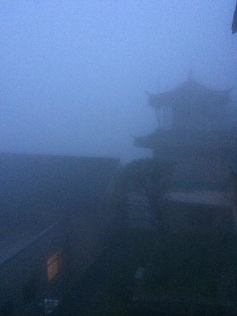 Mt. Huangshan (Yellow Mountain): When its foggy, you really cant see a thing.