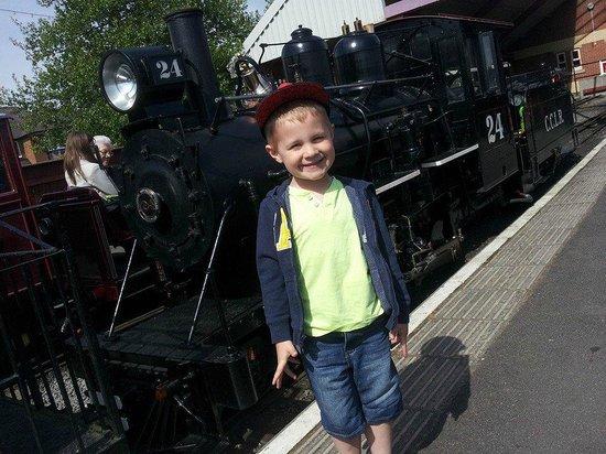 Cleethorpes Coast Light Railway: One happy little rail-fan!