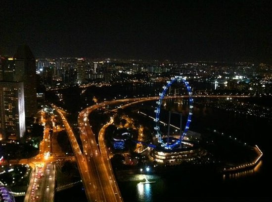 Marina Bay Sands: view from room