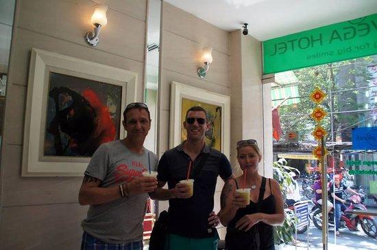 Nova Hotel: sugar cane drink from next door yum!