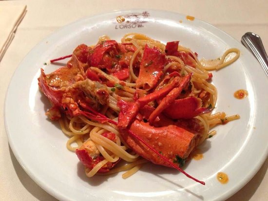 Orso 80: Linguine libster which I was just given. 주문 후 바로받은 랍스타스파게티;;