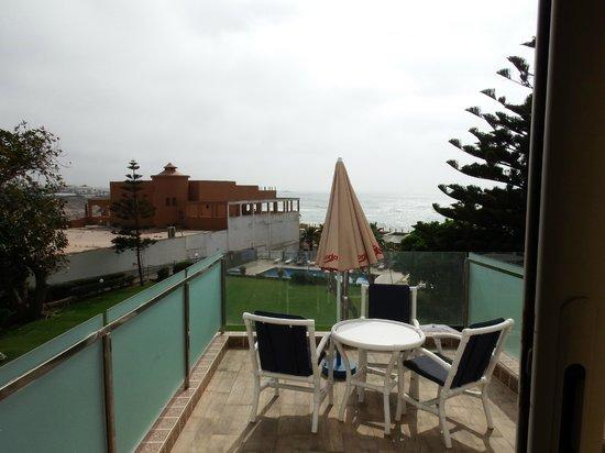 Hotel Bellerive : vue depuis la terrasse d'une des chambres