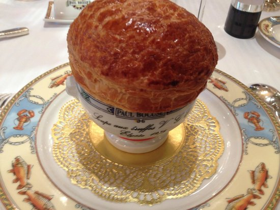 Restaurant Paul Bocuse : the truffle soup hosejob