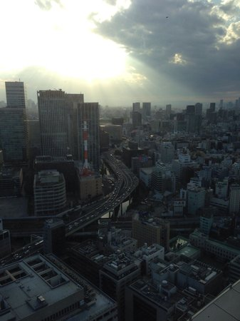 Mandarin Oriental, Tokyo: Вид вечером