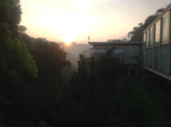 Padma Hotel Bandung : View from our Premiere Room at 6 am.