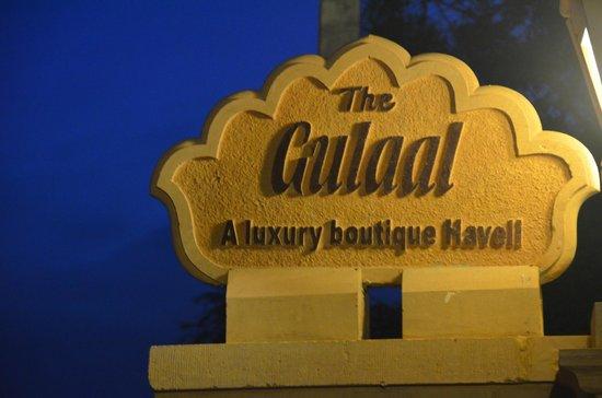 The Gulaal : sign Board