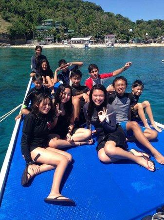 Atlantis Dive Resorts Dumaguete: On their boat