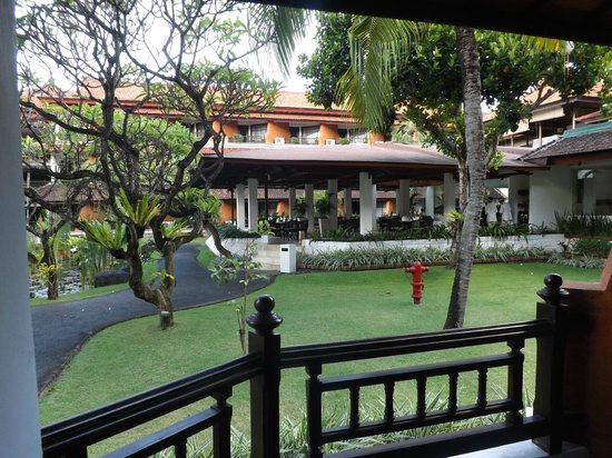 Sol Beach House Bali Benoa by Melia Hotels International: a short walk from our room to breakfast...