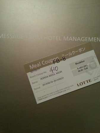 Lotte City Hotel Mapo: one coupon for one person :(