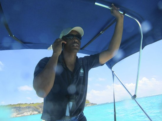 Lagoon Tours Bahamas  - Tours : Jay didn't seem surprised to get cell coverage out by the Cays.