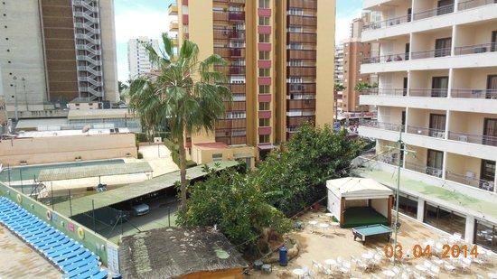 Presidente Hotel: uitzicht vanuit kamer