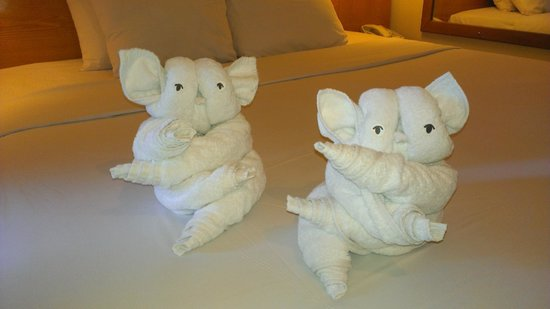 Febri's Hotel & Spa : Some of the cute towel arrangements