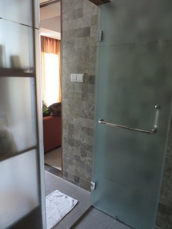 Rama Garden Hotel Bali : Room 111 Shower to room view
