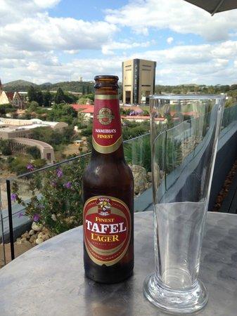 Hilton Windhoek: Beer overlooking Windhoek