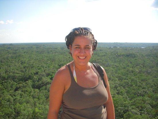 Ruines de Cobá : En las alturas
