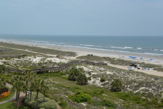 The Ritz-Carlton, Amelia Island: View of beach from south tower