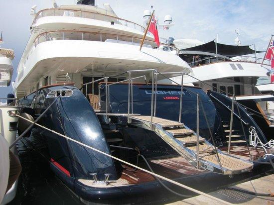 St. Tropez Harbor : A nice yacht