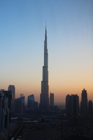 The Oberoi, Dubai: Dawn view of the Burj from our room